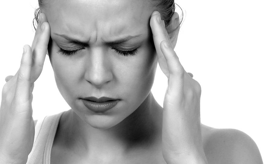 woman with trigger point headaches